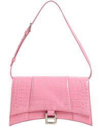 Balenciaga Baguette クロコエンボスレザーバッグ - ピンク
