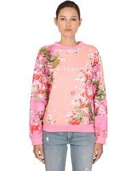 Givenchy Толстовка С Цветочным Принтом И Логотипом - Розовый