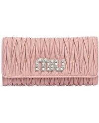 Miu Miu - Quilted Leather Continental Wallet - Lyst