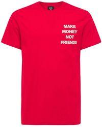 MAKE MONEY NOT FRIENDS ロゴプリント コットンジャージーtシャツ - レッド