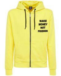 MAKE MONEY NOT FRIENDS Kapuzensweatshirt Aus Baumwolle Mit Logo Und Zip - Gelb