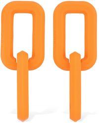 Off-White c/o Virgil Abloh Acrylic Chain Pendant Earrings - Orange