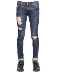 "April77 Jeans ""joey Mick"" In Denim Destroyed 16cm - Blu"