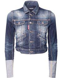 DSquared² ストレッチコットンデニムジャケット - ブルー