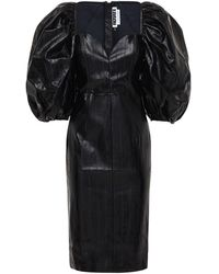 ROTATE BIRGER CHRISTENSEN Платье Из Искусственной Кожи - Черный