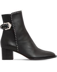 Givenchy Кожаные Ботинки С Заклёпками 50мм - Черный