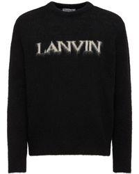 Lanvin アルパカブレンドニットセーター - ブラック