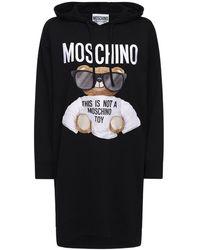 Moschino Трикотажное Хлопковое Платье Moshino Bear - Черный