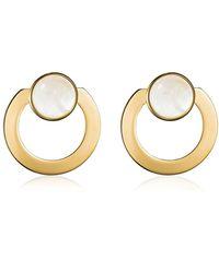 Vita Fede Moneta Open Mother Of Pearl Earrings - メタリック