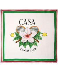 CASABLANCA Tennis Club シルクツイルスカーフ - グリーン