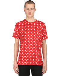 Hydrogen Printed Cotton Jersey T-shirt - Red