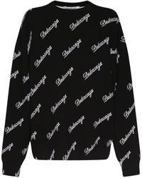 Balenciaga ウールニットセーター - ブラック