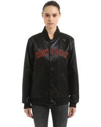 KTZ - New York Yankees Satin Varsity Jacket - Lyst