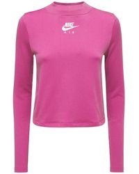 Nike モックネックテックトップ - ピンク