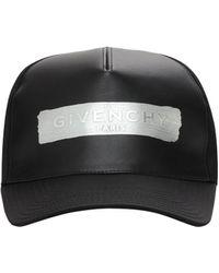Givenchy Casquette En Toile Détail Logo En Latex - Noir