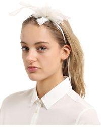 Scha   Flower Small Hb Headband W/ Ties   Lyst