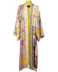Etro Kimonoシルクツイルウェア - マルチカラー