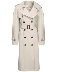 Alexandre Vauthier Cotton Canvas Over Trench Coat - Natural