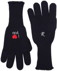 Raf Simons - I Love You Embroidered Wool Gloves - Lyst