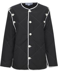 Sunnei Quilted Nylon Jacket - Black