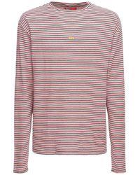 424 T-shirt In Maglia Di Cotone - Rosso