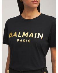 Balmain オーガニックコットンtシャツ - ブラック
