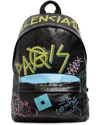 Balenciaga Explorer Graffiti Backpack - Black