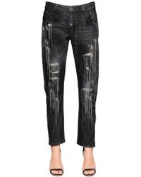 Amen - Chain & Crystals Cotton Denim Jeans - Lyst