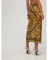 Versace Юбка Из Шелкового Жоржета С Принтом - Многоцветный