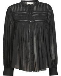 Étoile Isabel Marant Plailaサイズモスリンコットンシャツ - ブラック