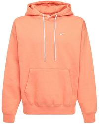 Nike Lab Cotton Blend Sweatshirt Hoodie - Orange
