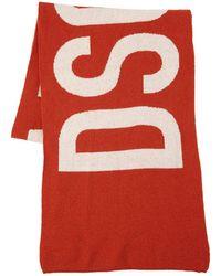 DSquared² Sciarpa In Maglia Di Lana Con Logo - Rosso