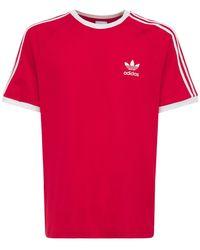 "adidas Originals T-shirt Aus Baumwolljersey ""3-stripes"" - Rot"