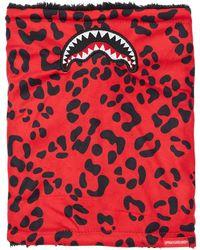 Sprayground Calienta Cuello Con Estampado Animal - Rojo