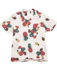 Guess - Fruit Printed Camp Collar Shirt - Lyst
