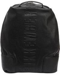Bikkembergs - Small Army Faux Leather Backpack - Lyst