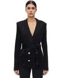 Balmain ダブルブレステッドオーバーサイズジャケット - ブラック