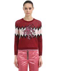 COACH Keith Haring ルレックス&ウール混 セーター - レッド