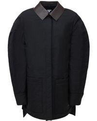 Loewe キルテッドコットンブレンドバルーンジャケット - ブラック