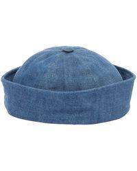 Beton Cire - Handmade Cotton Denim Sailor Hat - Lyst