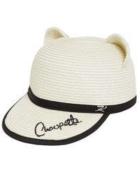 Karl Lagerfeld Woven Choupette Ears Hat - White