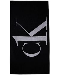 Calvin Klein Полотенце Из Хлопка С Логотипом - Черный