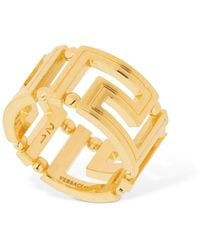 Versace Greek Motif Ring - Mettallic