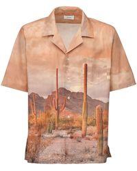 Rhude Cactus Print Rayon Bowling Shirt - Mehrfarbig