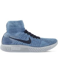 super popular cf4ce 2cef6 Nike Rubber Lunarepic Flyknit 1 in Blue for Men - Lyst