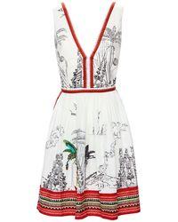 Le Sirenuse Mini-robe En Coton Imprimé Sophia - Multicolore