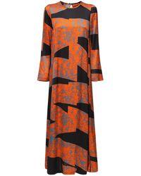 Colville サテンロングドレス - オレンジ