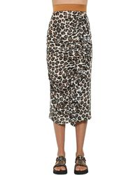 Antonio Marras - Leopard Print Techno Midi Skirt - Lyst