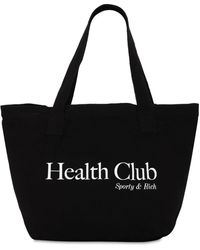 Sporty & Rich Health Club トートパンツ - ブラック