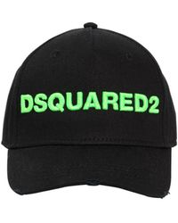 DSquared² - Logo Cotton Canvas Baseball Hat - Lyst